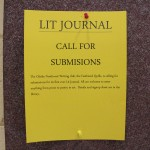 Yellow lit journal posters can be found on the bulletin boards around the school.